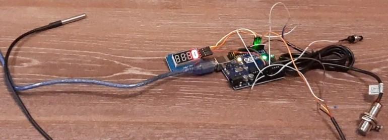 Тахометр  температура двигателя на Arduino для МиниМото