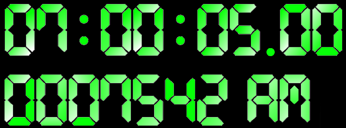 Time measurement with nanosecond precision